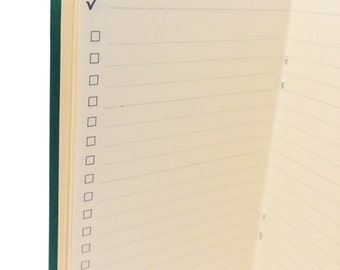 Checklist Traveler's Notebook Insert Booklet {Standard Size} // Choose Cover & Paper Colors!