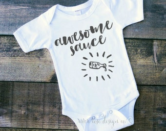 Awesome Sauce Onesie, Awesome Sauce Bodysuit, Awesome Sauce, Awesome, Onesie, Tshirt, Bodysuit