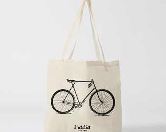 X34Y Tote bag bike vintage, bag, bag changing bag races, bag course, bread bag, computer bag, bag Beach, cotton tote bag, man