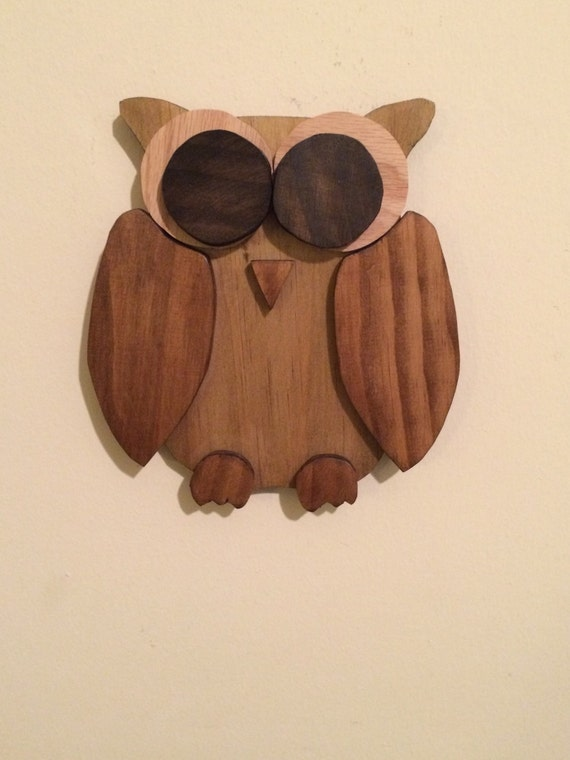 Rustic pallet wood owl, small wall hanging owl, wooden owl, rustic home  decor