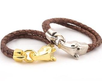 pulseras caballo para parejas, juego de 2 pulseras, pulseras plata y oro, joyas de parejas, puklseras country western, pulsera cowboy