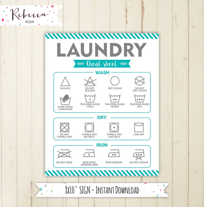 This is a graphic of Stupendous Laundry Symbols Printable