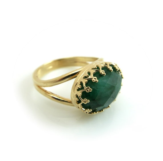 emerald ring gold ring may birthstone ring emerald