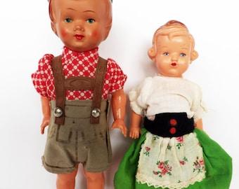 Vintage doll couple - European sweethearts