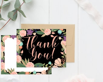 Rich Floral Thank You Cards **envelopes included**
