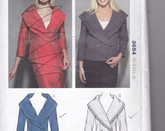 Women's Jacket Pattern Kwik Sew 3654 Wearable Art Size XS - XL Uncut