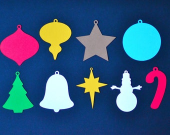 Christmas Die Cuts - All Shapes/Sizes - DIY Christmas Ornaments - Holiday Die Cuts - Christmas Decoration -  Christmas Craft - Kids Craft