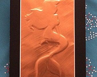 Disney Princess Ariel Silhouette Copper Emboss