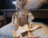 Primitive Doll Amy Frances, Primitive Dolls, Folk Art Dolls,  OOAK, FAAP, OFG, HAFair