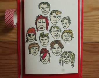 David Bowie Greeting Card *free uk postage*