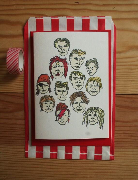 David Bowie Greeting Card Free Uk Postage