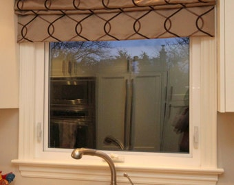 "Flat Roman Shade ""Zanni"" with chain mechanism, Roman Shades, Window Treatment, Custom Made"