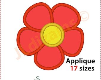Flower Applique Design. Flower embroidery design. Embroidery design flower. Applique flower. Embroidery applique. Machine embroidery design.