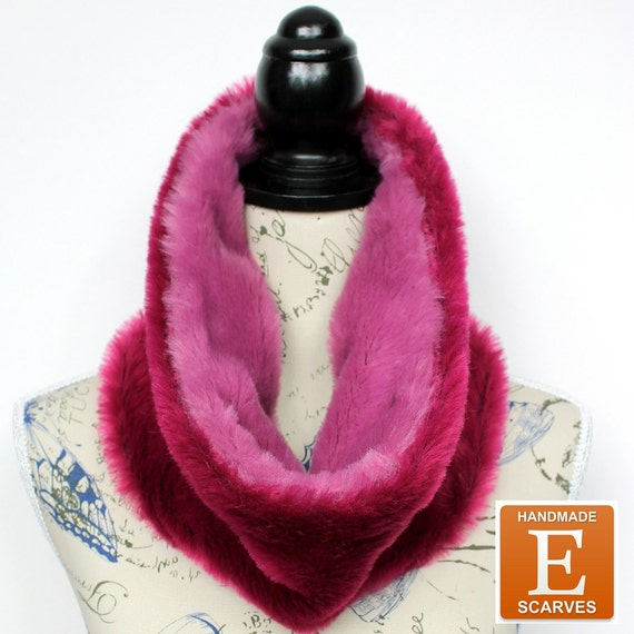 Faux Fur Snood Winter Scarves Faux Fur Scarf Chunky Infinity Faux Fur Cowl Gift Womens Gift for Her Christmas Celebrations Gift Mom Wife
