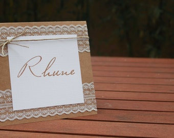 Range country wedding table number