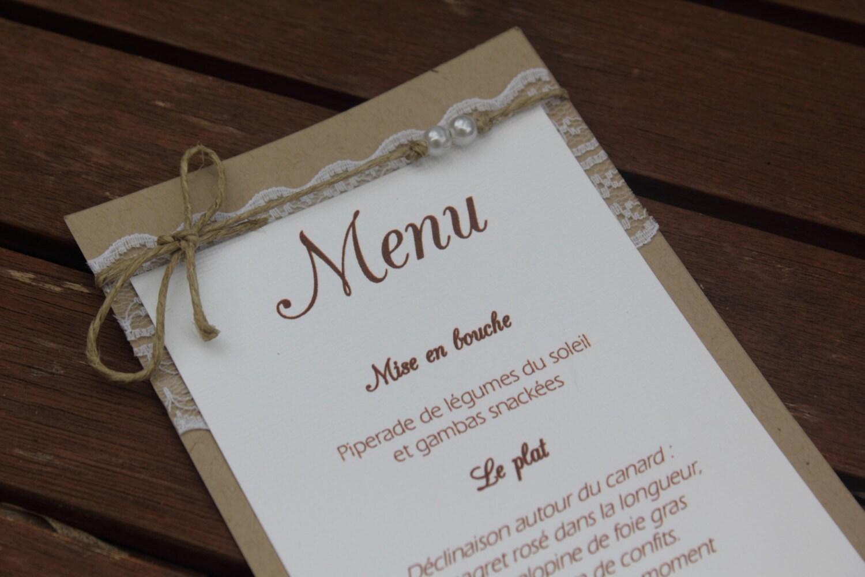 menu 2 gamme mariage champ tre chic. Black Bedroom Furniture Sets. Home Design Ideas