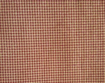 """Checker fabric/Burgundy & Cream Gingham or Checker pattern/44"""" wide/ Sold by the 1/2 Yard/ Yardage avalible"""