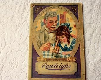 1920 Rawleigh's Almanac and Good Health Guide, vintage Rawleigh's-  vintage Almanac - vintage Health - vintage advertising