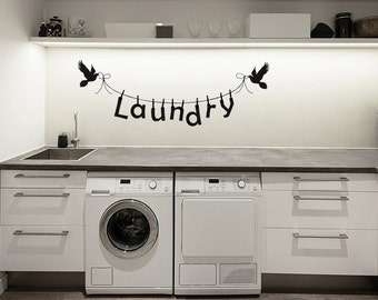 Laundry Room Decal - Laundry decal - Wall decal