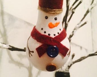 Up cycled lightbulb snowman ornament!