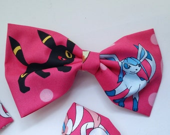 Pokemon Eeveelutions Bow - Eevee Hair Bow, Eevee Bow Tie, Eeveelutions Accessories, Geek Bow Ties, Geek Hair Bow, Geek Hair Accessories