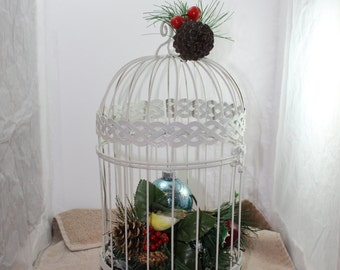 Christmas Bird Cage