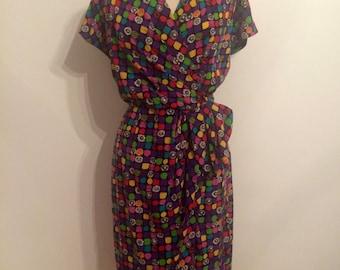 LORIS AZZARO Silk Dress | Mulitcolor | 4/6