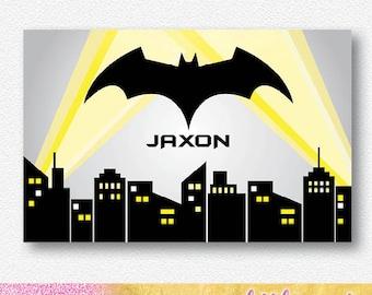 Bat City Party Backdrop |  Personalised Digital file