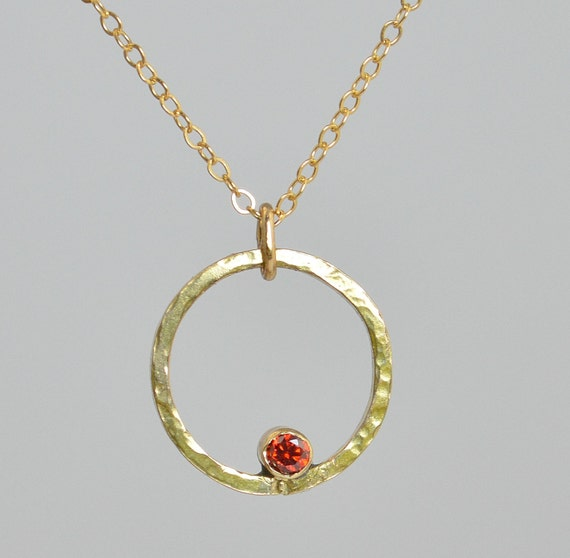 gold filled garnet necklace mothers necklace by