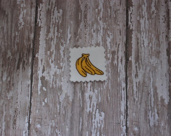 Bunch of Bananas Embroidery Design-Banana Design-Fruit-Yellow-Kitchen-Food-TINY-Miniature-Filled Stitch INSTANT download