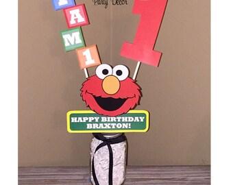Elmo Birthday Party Centerpiece - Elmo Birthday Decorations - Sesame Street Party