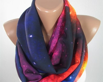 Mothers Day Gift For Mom Galaxy Scarf Infinity Scarf Nebula Outer Space Scarf Stars Spring Scarf Gift For Women Gift For Her For Mother