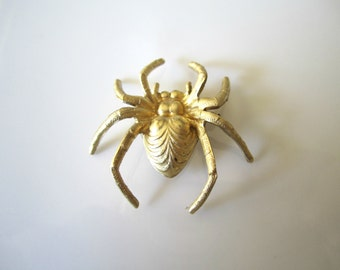 Raw Brass Spider Stamping Brass Spider Findings Raw Brass Spider Stampings Brass Spider Jewelry Supplies 25x27mm (1 pc) 30V17