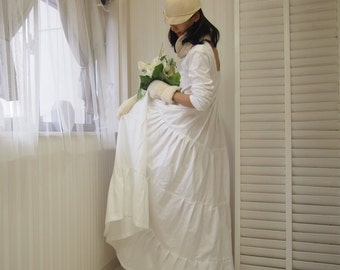 long sleeve wedding dress,wedding dress sleeves,long sleeve maxi dress,casual wedding dress,cotton wedding dress,simple wedding dress