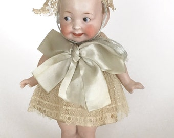 antique Googly doll, antique bisque doll, The Wide Awake doll