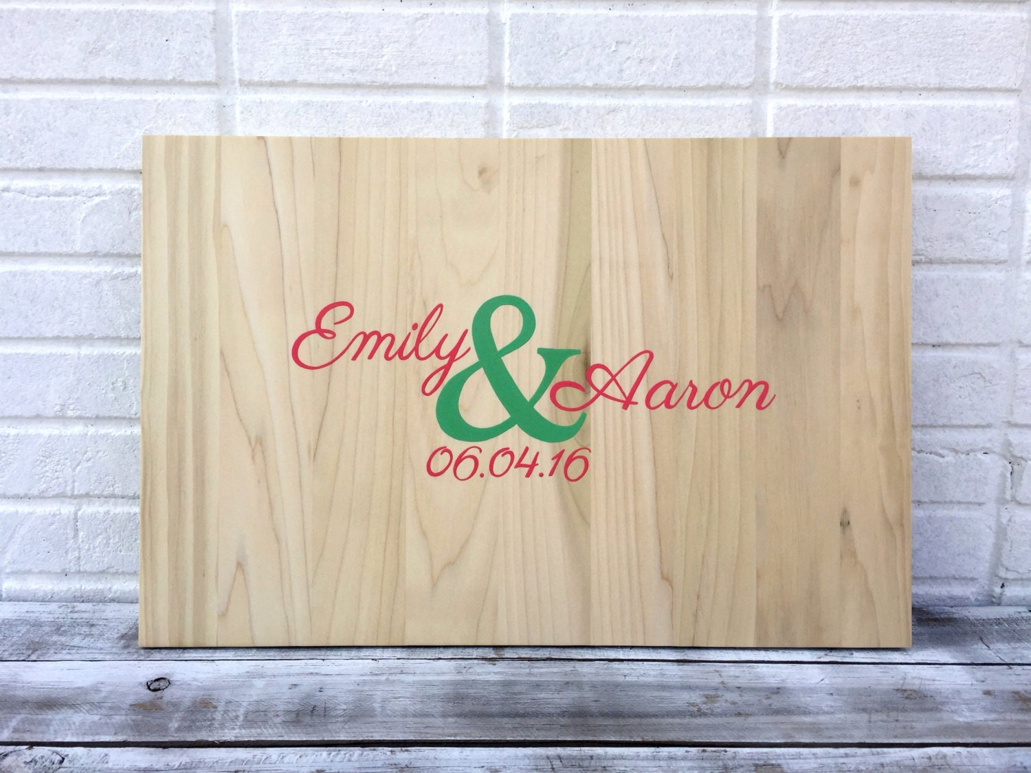Wedding Guest Sign Board Rustic Guestbook Alternative Wooden Book Ideas