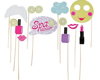 Spa Tacular Photo props / Spa day party theme/ spa day/ Spa Party