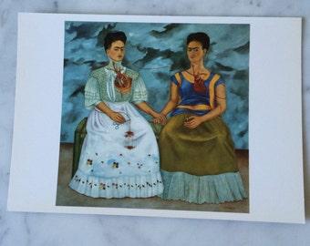 Vintage Frida Kahlo ' The Two Fridas ' postcard