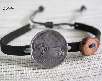 Vegan Mens Bracelet, Mens Vegan Bracelet, Vegan Mens Bracelet, Wrap Mens Bracelet, Womens Vegan Bracelet, Mens Vegan Cuff, Coin bracelet