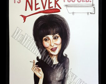 Cher as Mrs. Flax in Mermaids Movie Quote Art Print
