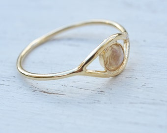 Moonstone ring,eye ring,evil eye ring,gold ring,dainty ring,moonstone ring gold or silver,evil eye jewelry