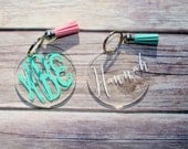 Monogram & Tassel Keychain (2.5 Inches)
