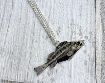Fish Anatomy Skeleton Necklace