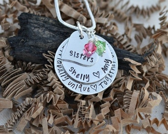 Unique Sister Gifts Sister Necklace Sister in Law Gift