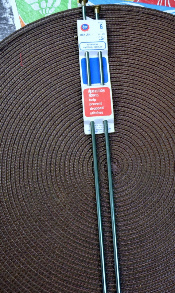 Knitting Needles Mm To Inches : Knitting needles size aluminum inches long mm