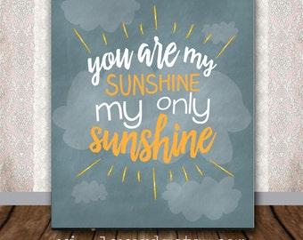 You Are My Sunshine Nursery Art - Team Maci Fundraiser - 8 x 10 Digital File