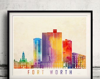 home decor stores fort worth fort worth skyline etsy 12477