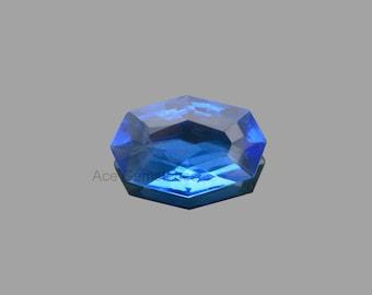 Rare Cut Gemstone Octagon Oval , Tanzanite Quartz Faceted Loose Gemstone 15x24mm AAA Grade - 1 Pcs.