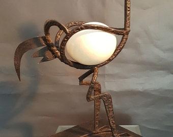 Metal Welded Abstract Bird Sculpture of Rebar Steel