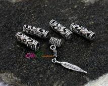 Sisterlocks jewelry/ Tibetan silver hair beads/dread bead sets/beard metal beads/Dreadlocks jewelry